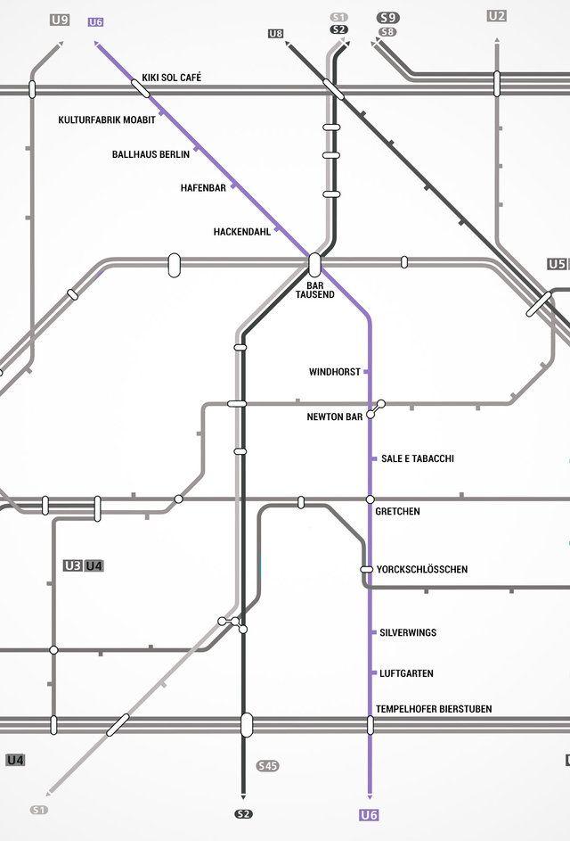 Thrillist.com   Berlin U-Bahn Map with bars