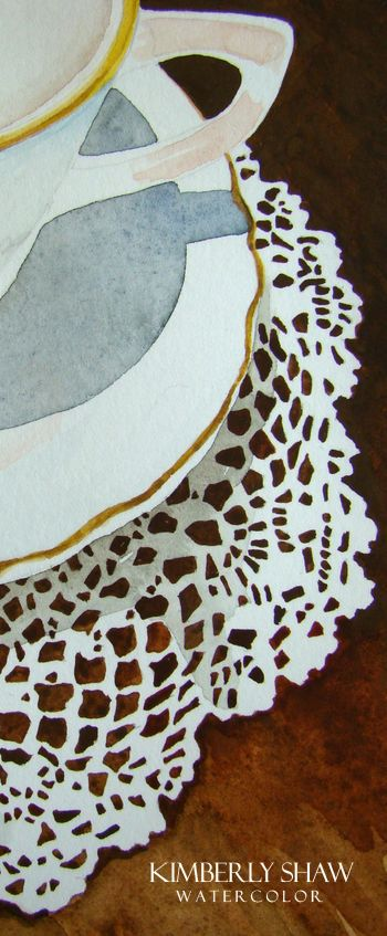 watercolor painting with masking fluid -