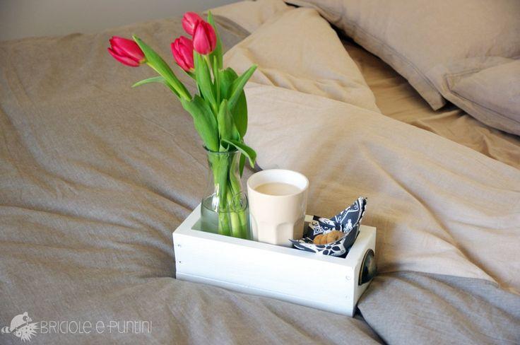cassetta in legno fai da te - vassoio colazione
