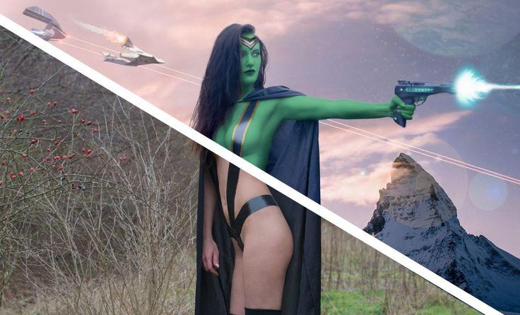 How To Make a Sci Fi Composite - Gamora Walkthrough
