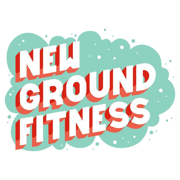 Vector lettering for my buddies at New Ground Fitness.