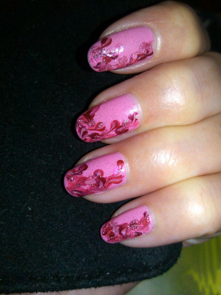ružové nechty