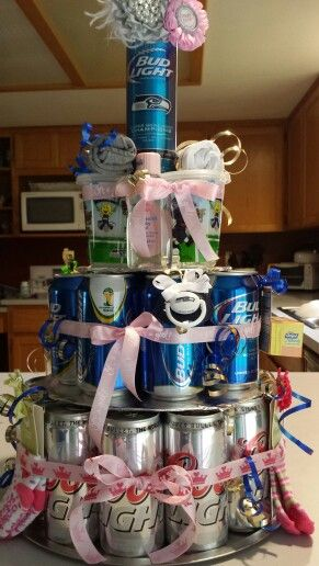 beer cake for dad baby shower