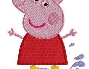 Papa Pig Machine Embroidery Pattern