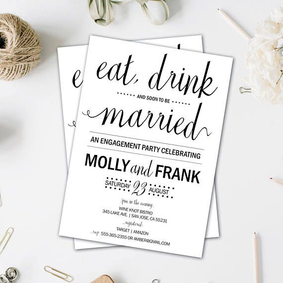 74 best Engagement Party Invites images on Pinterest Engagement - engagement invite templates