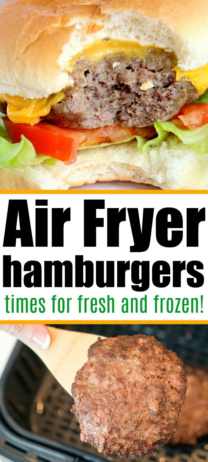 Air Fryer Hamburgers in 2020 Air fryer recipes