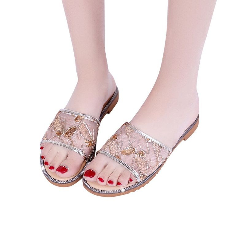 Women's Fashion Air Mesh Slippers Summer Shoes Sandals Slipper indoor & outdoor Drop Ship…