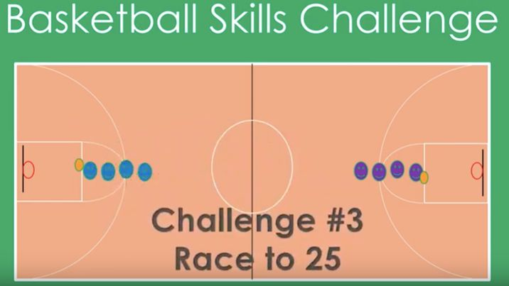 Basketball Skills Challenge for Physical Education
