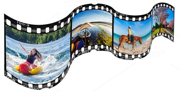 wavy film strip frame template by joannsnover on creative