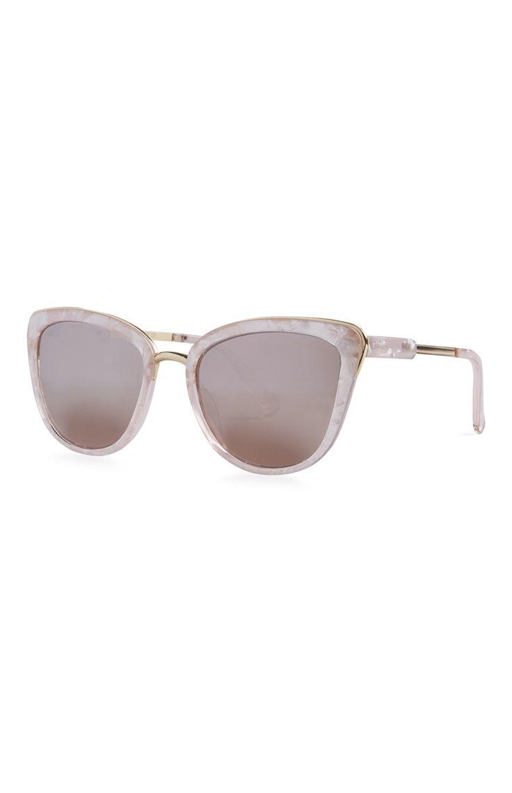 Primark - Óculos de sol olhos de gato mármore rosa