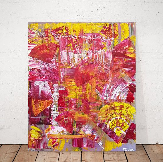 Original abstract painting. Oil Painting. Abstract art.