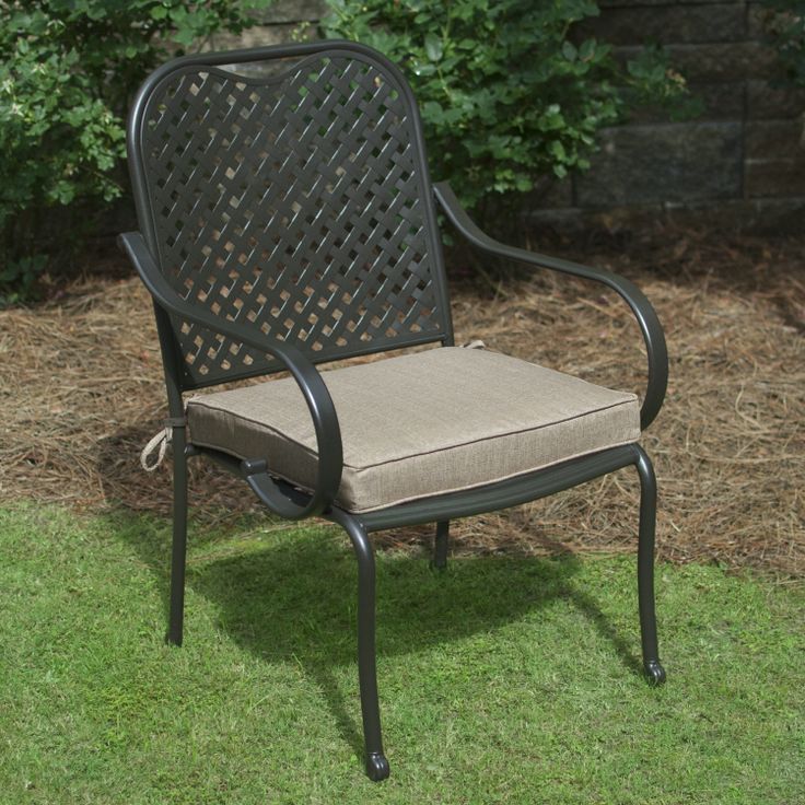 Plantation Patterns Hampton Bay Solid Roux Available At The Home Depot. Outdoor  Chair CushionsOutdoor ...