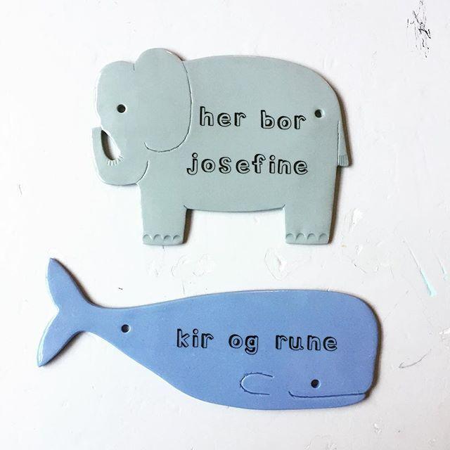 Auf Walen, Elefanten und Schweinen und Zwiebeln machen wir Kinderzeichen für das Kinderzimmer …