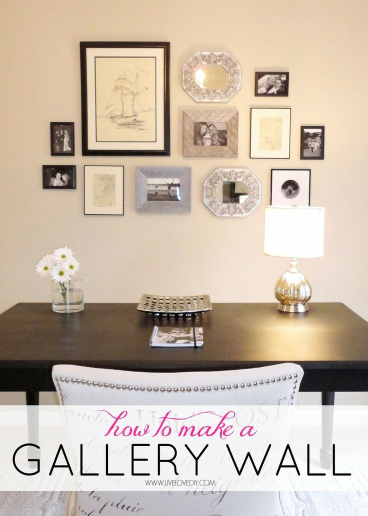 How to make a gallery wall. Tons of great ideas for layouts, art, etc. Love this!