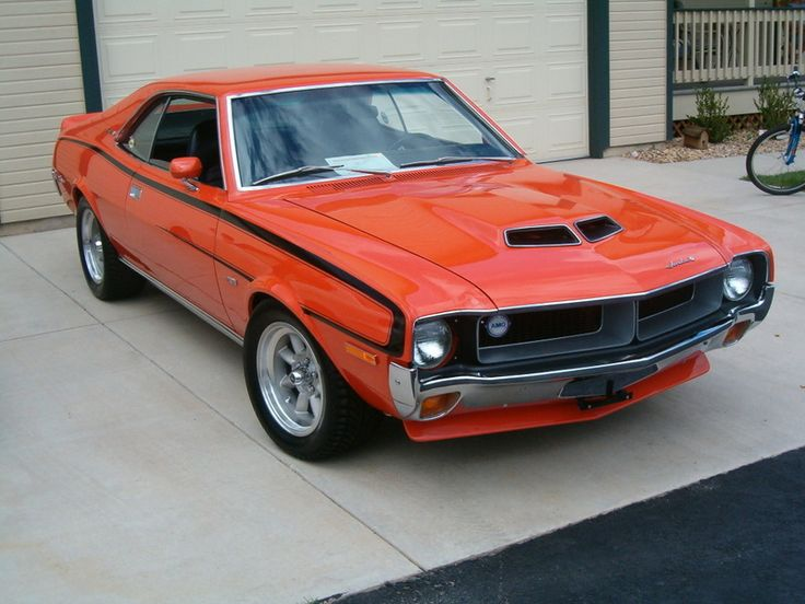 This '70 AMC Javelin looks ready for the track with Minilite wheels and a killer stance. www.zimmermotors.com