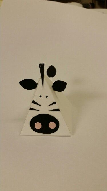Pyramid/playful pals -Stampin Up thinlets dies. My zebra.