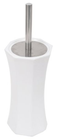 AQ White Ceramic Toilet Bowl Brush.