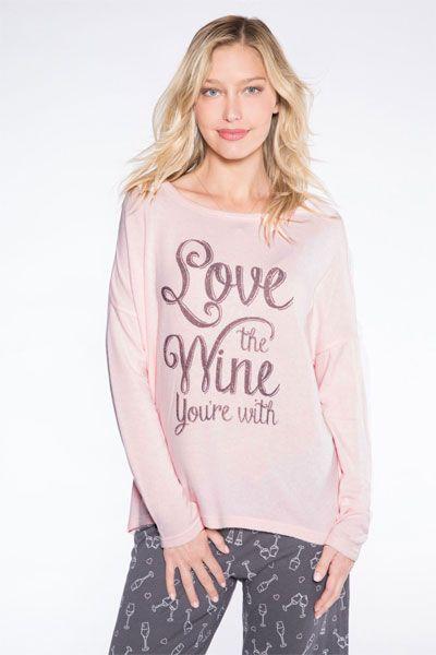 ae193e7c6bce PJ Salvage Love The Wine You re With Pajama Set