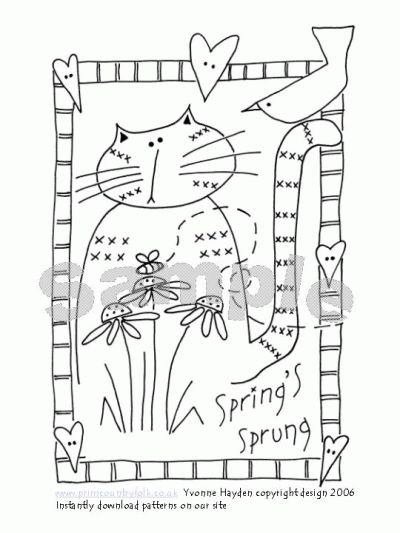 Les 63 meilleures images du tableau dessin à broder chats