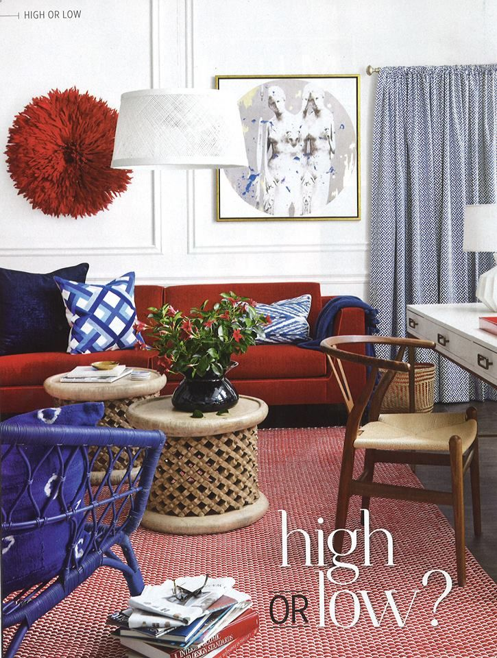 Love our Tate sofa in Style at Home October. Super hero style!