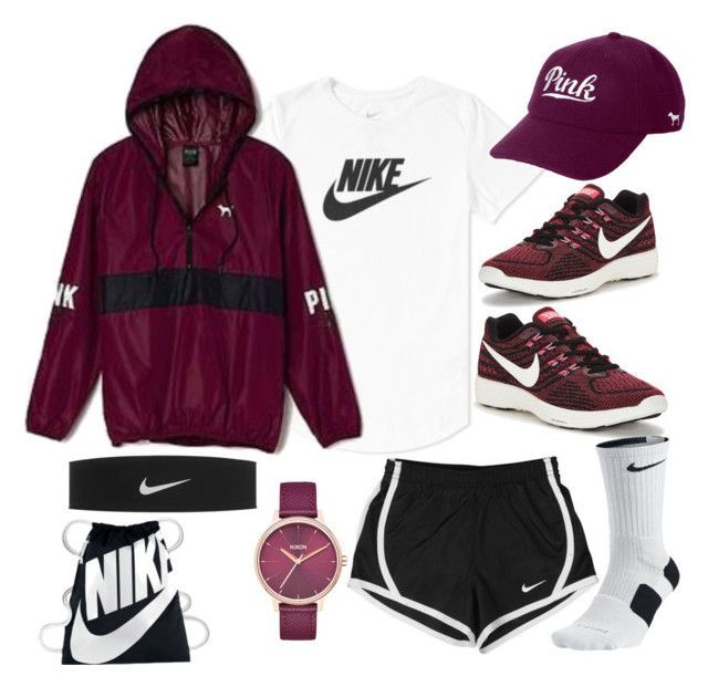 """""""Untitled #71"""" by thesabriner on Polyvore featuring NIKE, Victoria's Secret and Nixon"""