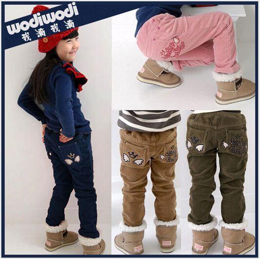 2015 новые девушки брюки ребенок зимний теплые брюки мода вельветовые брюки брюки bebe свободного покроя носить бесплатная доставка
