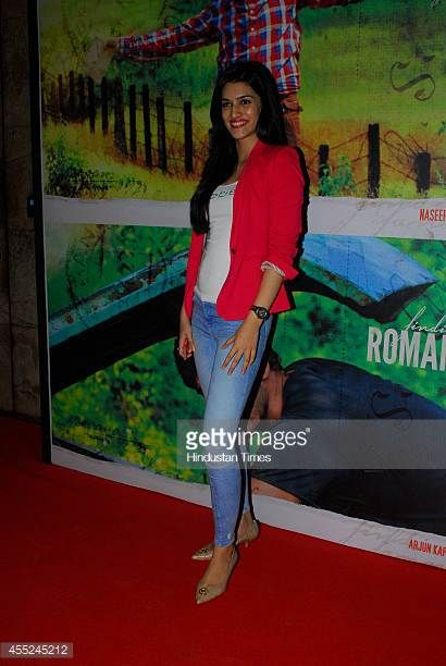 Indian Bollywood actor Kriti Sanon during the special screening of movie Finding Fanny at Lightbox Santacruz on September 9 2014 in Mumbai India...