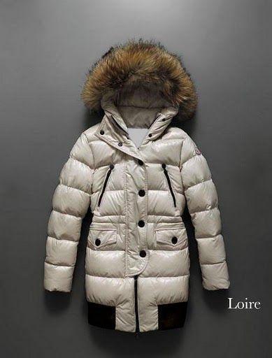 Collo di pelliccia Moncler donne-bianco e lunghi tratti SIZE: 0 1 2 3 4 (XS-XL)
