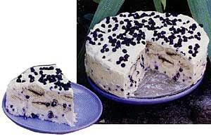 Nepečený dort s borůvkami