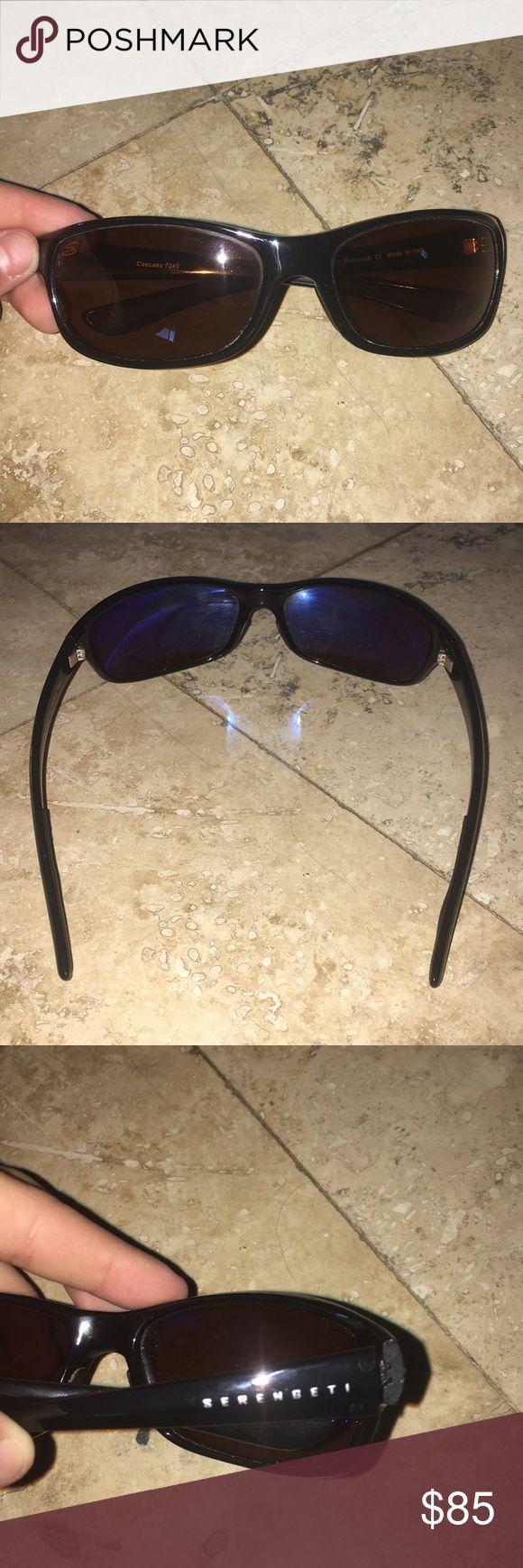 Mens serengeti sunglasses Great condition! Bronze polarized lenses! Serengeti Accessories Glasses
