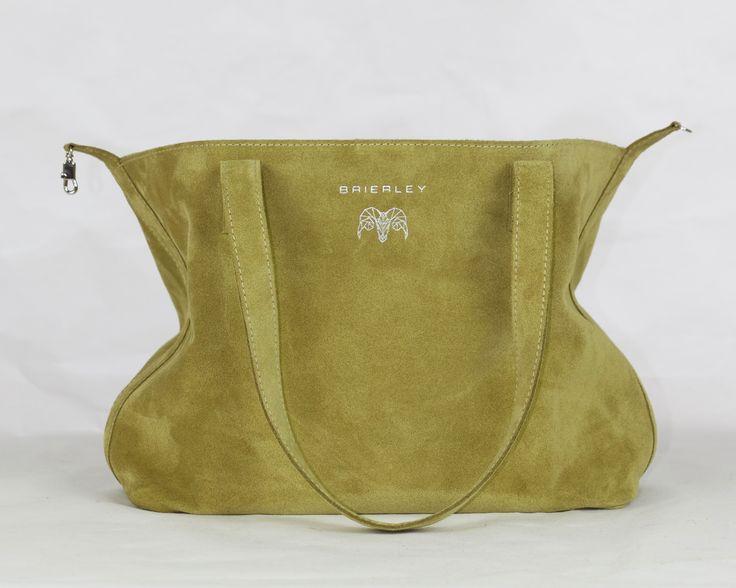 Lime green velour Brierley Bag