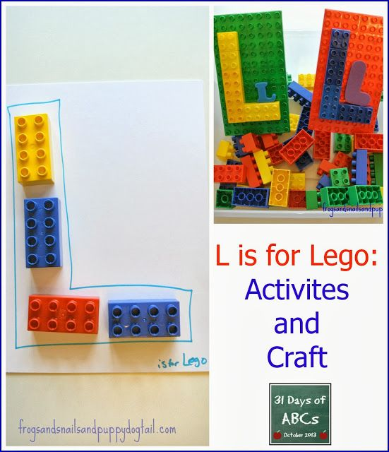 (FSPDT): The Letter L is for Lego: craft and activities. fun hands on ways to go over the letter L wit the kids.