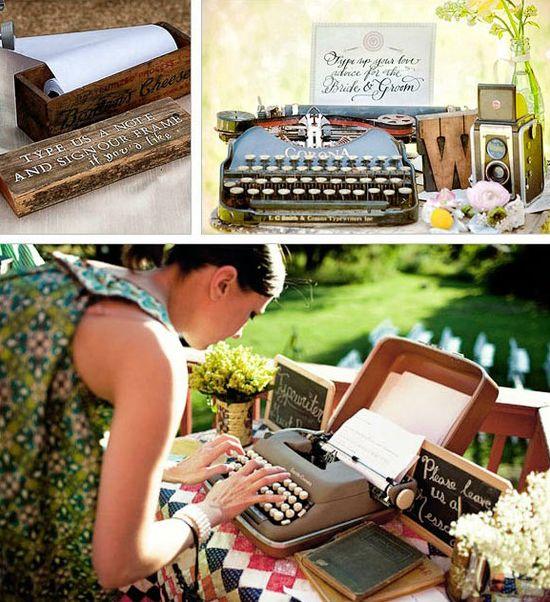 Tenemos máquina de escribir portatil para alquilar para boda estili vintage, como nueva.