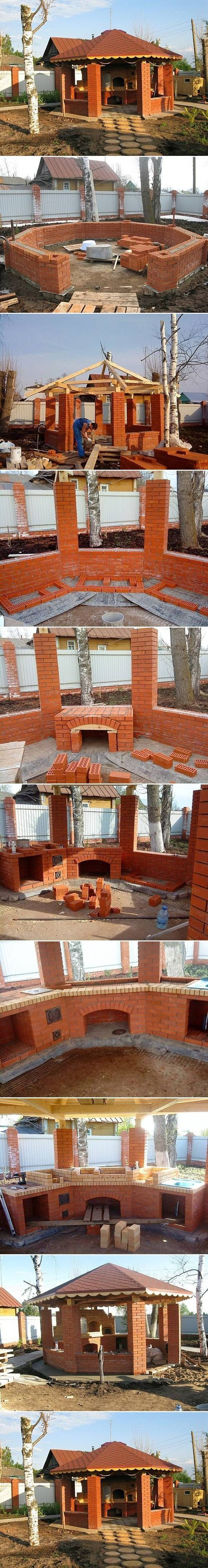 DIY Gazebo with Barbecue DIY Projects / UsefulDIY.com