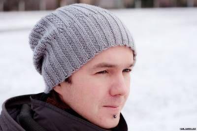 Мужская шапка спицами - Полезное - Копилка идей - Полезный и независимый портал