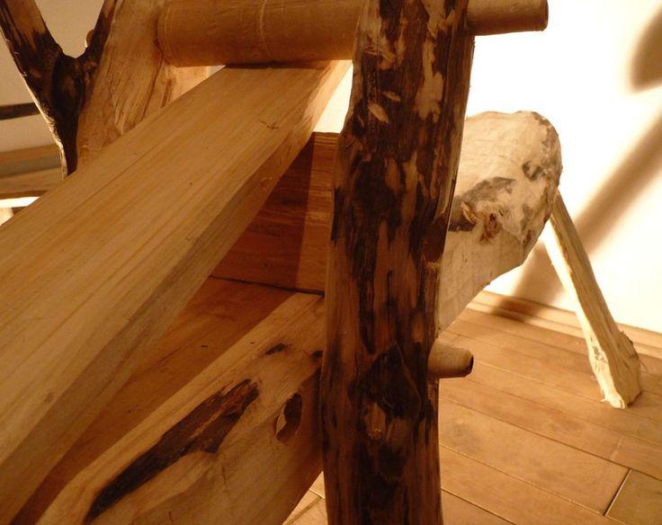 Dieses Schnitzpferd -auch Shaving Horse genannt- ist reine Handarbeit, bestehend aus Pappel, Erle und Lärche.  Die Hölzer wurden gespalten und mit Beil u. Dechsel, Zugmesser und Hobel bearbeitet....