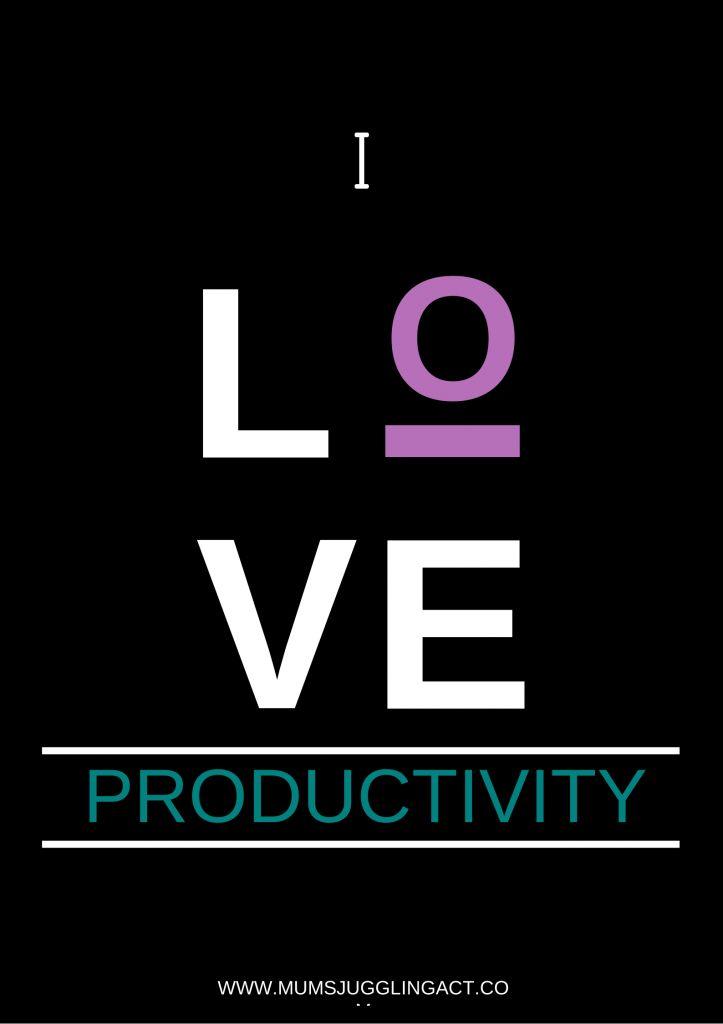5 ways to increase productivity... yup I love productivity