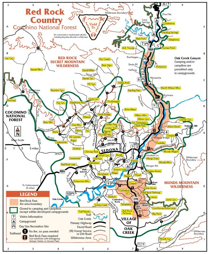 map of sedona arizona area hiking | 365 Things To Do In Sedona AZ | Discover Fun Things To Do In Sedona AZ