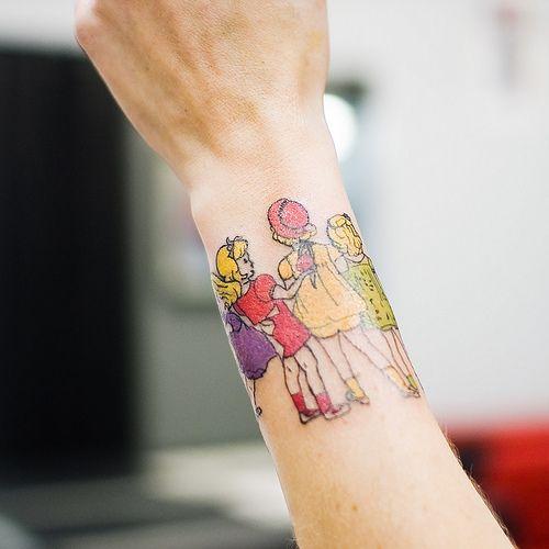 : Girl Tattoos, Wrist Tattoo, Henry Darger, Tattoo Design, Sister Tattoos, Vivian Girls, Darger Tattoo, Ink