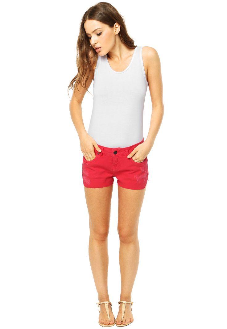 Short Calvin Klein Jeans Vermelho - Compre Agora   Dafiti Brasil