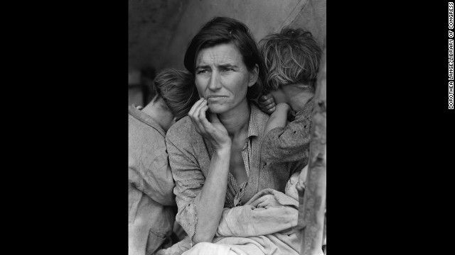 Dorothea Lange's photograph of a struggling mother with her children in 1936 became an icon of the Great Depression