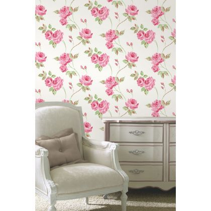 Fine decor romance wallpaper pink at homebase be - Butterfly wallpaper homebase ...