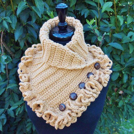 Golden Toffee/Tan Victorian Steampunk Crochet by ParasolDesign, $55.00