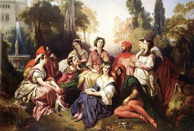 The Decameron - by Franz Xaver Winterhalter (1805–1873) The Cuckold, His Wife, and Her Lover: A Study of Infidelity in the Cent nouvelles nouvelles, the Decameron, and the Libro de buen amor. By Sandra Bialystok. PhD Dissertation, University of Toronto (2008)