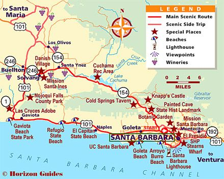 Santa Barbara, California scenic drives