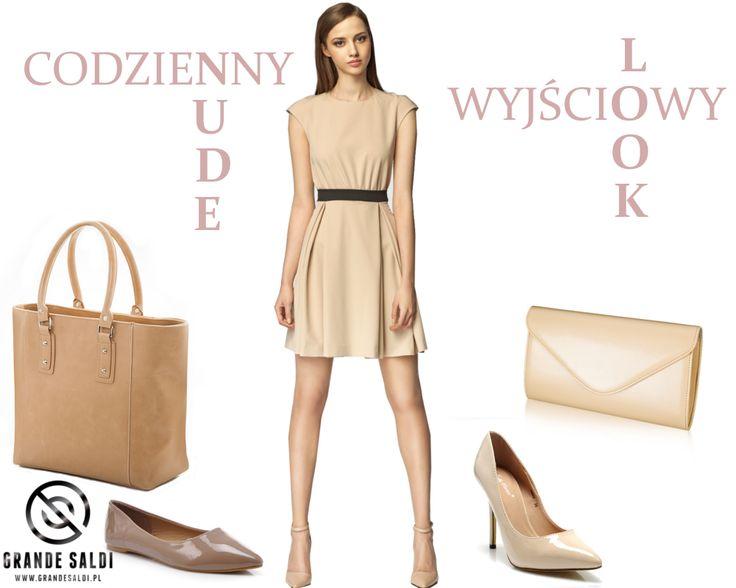 Beż idealny w wersji total look i jako baza dla wszystkich innych kolorów. Beżowe sukienki, bluzki, spodnie, spódnice i do tego przepiękne torebki i buty znajdziecie na www.grandesaldi.pl