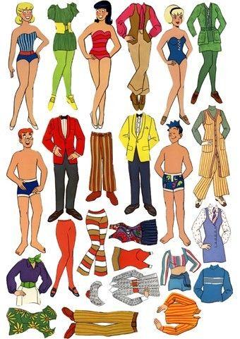 Archie Comic Paper Dolls