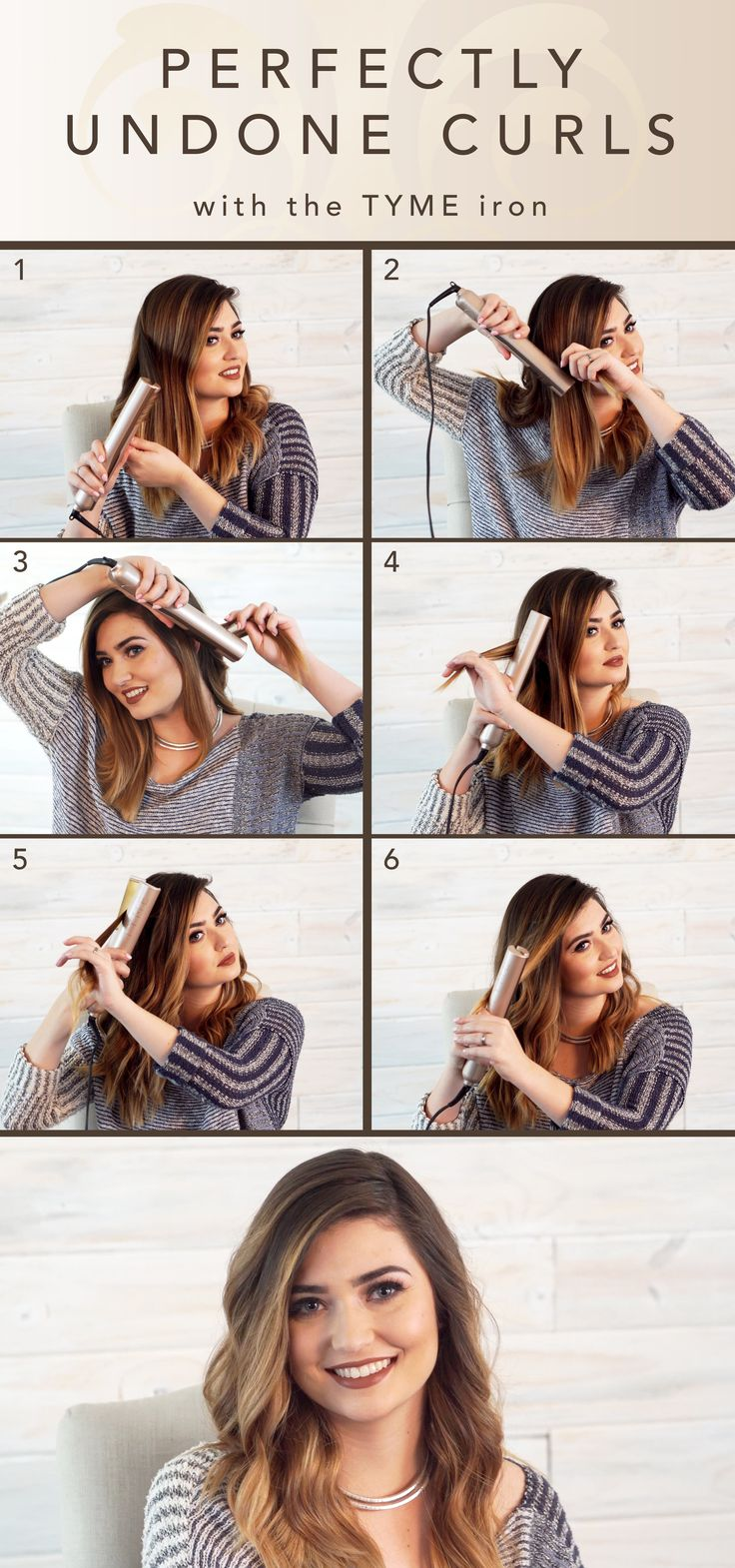 Perfectly Undone Curls is the look of the season! Learn how you can create this style in only a few minutes at WWW.TYMESTYLE.COM