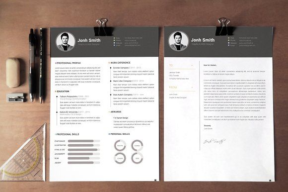 Office Simple CV-Resume Template *C by Showy68 Template on @creativemarket
