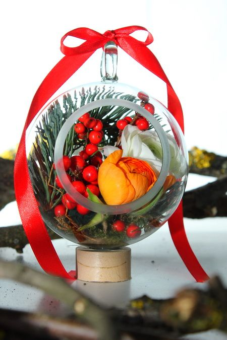 Christmas floral decoration.